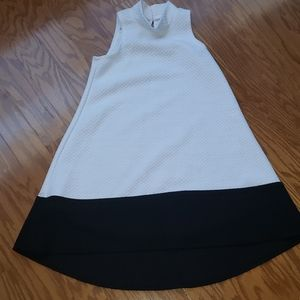 White and black girls dress